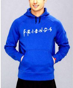 নীল Friends ডিজাইন ক্যাজুয়াল স্টাইলিশ কটন হুডি ফর জেন্টস
