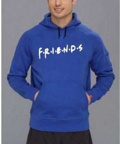 গাড় নীল Friends ডিজাইন ক্যাজুয়াল স্টাইলিশ কটন হুডি ফর জেন্টস