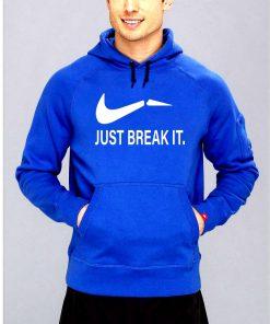 ক্যাজুয়াল নীল Just Break It ডিজাইন কটন হুডি ফর জেন্টস