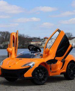 McLaren P4 লাইসেন্সড ১২ ভোল্ট ব্যাটারি ডাবল মটরের রাইড অন+রিমোট কিডস কার অরেঞ্জ
