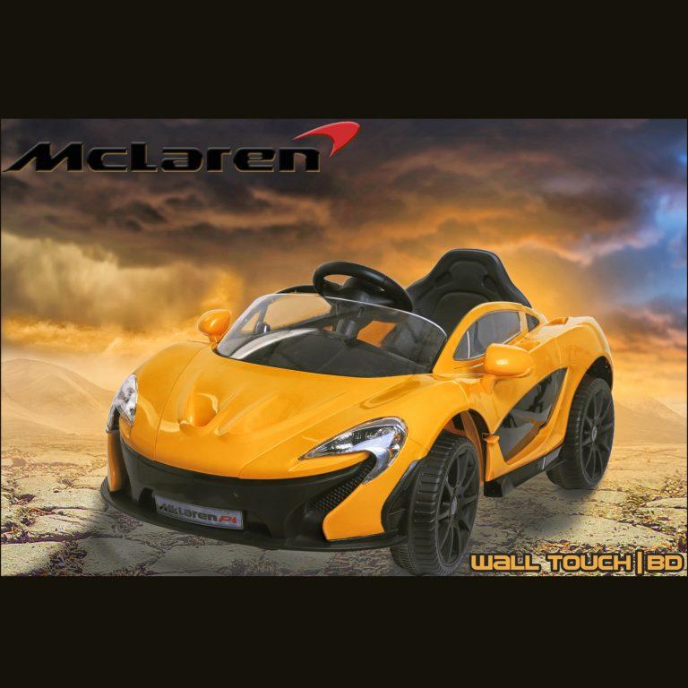McLaren P4 লাইসেন্সড ১২ ভোল্ট ব্যাটারি ডাবল মটরের রাইড অন+রিমোট কিডস কার ইয়োলো