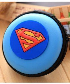 Superman মিনি কিউট চার্জার ইয়ারফোন হোল্ডার ওয়ালেট