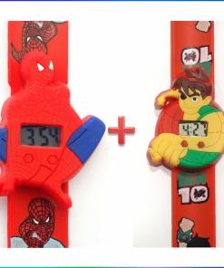 কিডস স্কেল রিস্ট ওয়াচ কম্বো প্যাক (Spiderman+Ben10)
