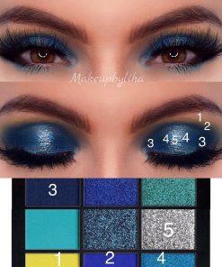 Huda Beauty নীলা অবসেশন আইশ্যাডো প্যালেট