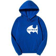 নীল Batman ডিজাইন কটন হুডি ফর জেন্টস