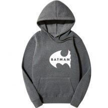 ধূসর Batman ডিজাইন কটন হুডি ফর জেন্টস