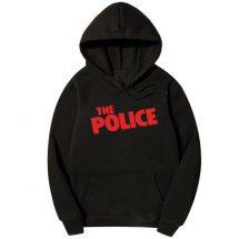 কালো কালার The Police ডিজাইন কটন হুডি ফর জেন্টস