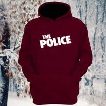 মেরুন The Police ডিজাইন কটন হুডি ফর জেন্টস
