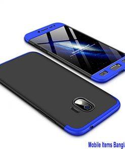 Samsung Galaxy J2 কালো নীল 360 ডিগ্রি ফোন কেস কাভার
