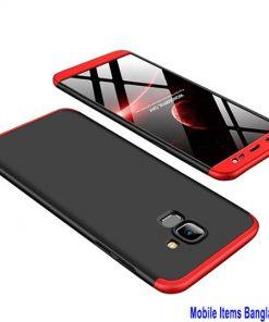 লাল প্রাইম 360 ডিগ্রি ফোনের কেস (Samsung Galaxy J6 2018)
