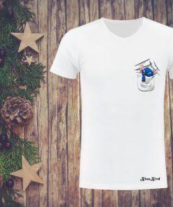 সাদা BLUE BIRD প্রিন্টেড কটন টি শার্ট ফর জেন্টস