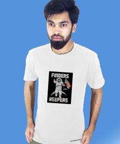 সাদা FINDERS KEEPERS প্রিন্টেড গোল গলা টি শার্ট