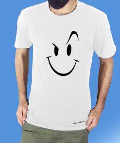 Smiley প্রিন্টেড এক্সপোর্ট কটন টি শার্ট ফর মেনস