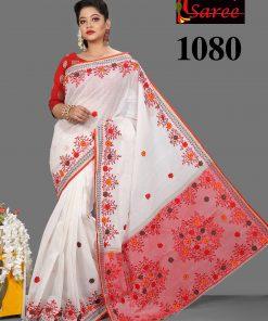 হ্যান্ড এম্ব্রয়ডারি পিওর কটন Classic Boutique শাড়ি 1080