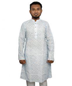 মেনজ সেমি লং ক্লাসিক প্রিন্টেড কটন পাঞ্জাবি