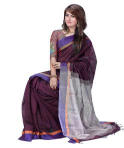 অরজিনাল মনিপুরি তসর সিল্কের শাড়ি DS167