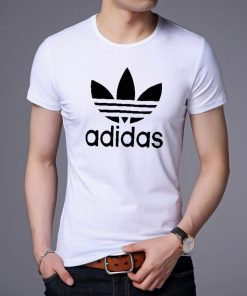 Adidas ডিজাইন গোল গলা হাফ হাতা কটন টি শার্ট ফর জেন্টস