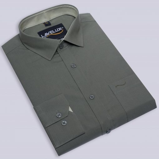 Boys Cotton Gray Color Lavelux Half Sleeve Formal Shirt