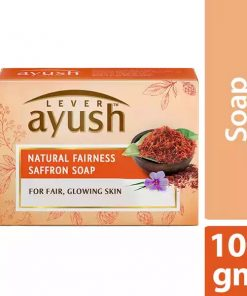 ১০ পিস Lever Ayush Soap Bar Natural Fair Saffron