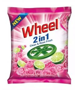 ২ পিস Wheel Washing Powder 2in1 Clean & Rose (500 gm)