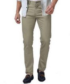 U.S. POLO ASSN Off White Slim Fitting Twill Cotton Gabardine Pant