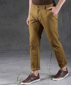 American Eagle Brown Color Slim Fitting Twill Cotton Gabardine Pant