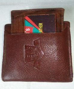 Chocolate Color Long Shaped Leather Wallet for Men