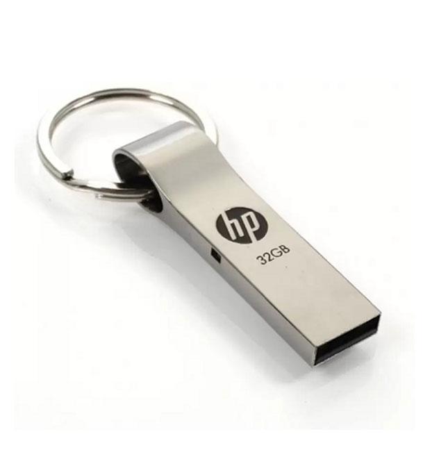 HP স্টীল বডির চাবির রিং স্টাইল 32 জিবি ইউএসবি পেনড্রাইভ 1131