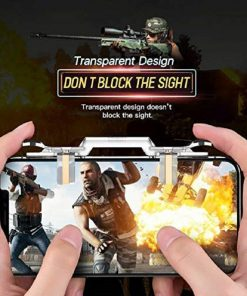 TOTU® PUBG Mobile Game Controller Gamepad Trigger Aim Button L1R1 Shooter Joystick for iPhone Android Game Pad Accesorios (Pubg Trigger Long Hock)