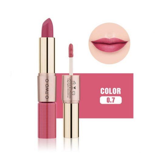 O.TWO.O 2 in 1 waterproof matte lipstick and liquid lip gloss