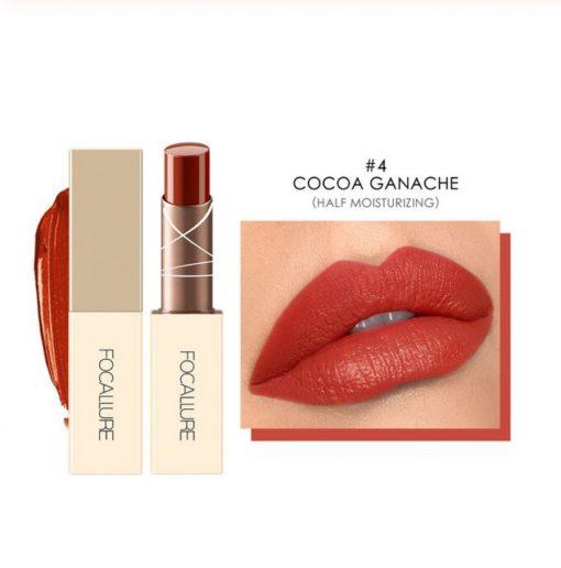 FOCALLURE Chocolate Matte Velvet Waterproof Long Lasting Lipstick