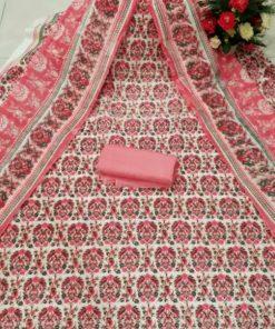 Ladies Original Unstitched Cotton Skin Print Fashionable Three Piece Salwar Kameez