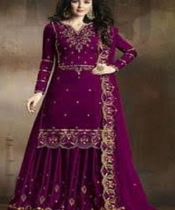 Original Weightless Georgette Zam Color Embroidery Sharara Suit