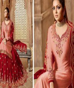 Multi Color Semi-stitched Ladies Original Georgette Embroidery Sharara Suit