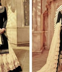 Multi Color Semistitched Georgette Embroidery Sharara Suit