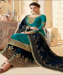 Multi Color Trendy Soft Indian Wetless Georgette Unstitched Embroidery Three Piece