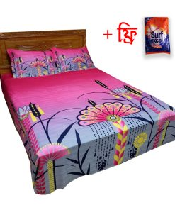 Gradient Color Print King Size Cotton 2 Piece Cover with Matching Bed Sheet
