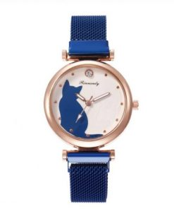 Luxury Magnetic Buckle Cute Cat Watches For Women