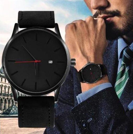 Fashion Leather Quartz Watch for Men