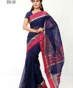 Exclusive Dhansiri Tat Original Cotton Print Saree DS35