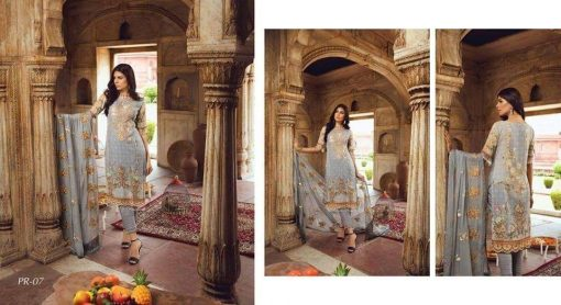 Trendy Looking Pakistani Morza Multi Color Digital Swiss Embroidery Unstitched Three Piece