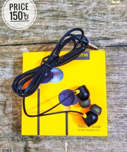 Powerful Sound Quality Black Color Realme Buds Stylish Earphones