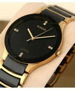 গোল্ডেন ব্ল্যাক Rado স্টেইনলেস স্টিল Watch