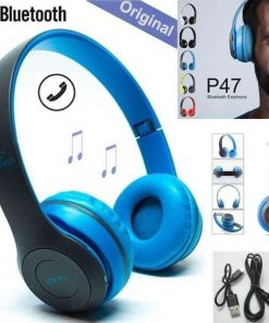 P47 Exclusive Blue Color High Quality Wireless Bluetooth Headphones