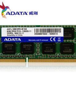 Adata 4GB DDR3L 1600MHz 2RX8 PC3L ল্যাপটপ র্যাম ADATA 4GB DDR3 SO DIMM 1600 512x8 Retail AD3S1600W4G11R Retail