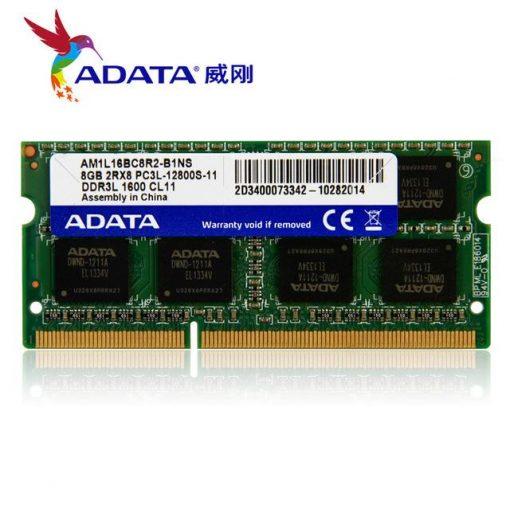 Adata 4GB DDR3L 1600MHz 2RX8 PC3L Laptop Ram ADATA 4GB DDR3 SO DIMM 1600 512x8 Retail AD3S1600W4G11R Retail