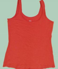 Kalies Design Orange Color Basic Tang Top