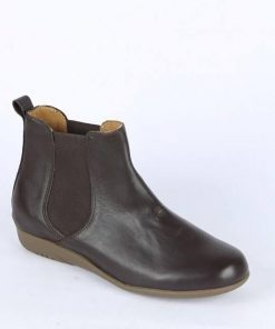 Ultra Soft Chocolate Color Export Quality Leather Ankle Boot for Ladies