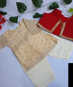 পাতলা কাতান জামদানি কোটি ফর লিটল বয়জ