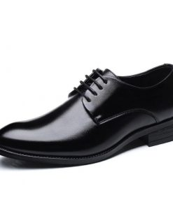 Boys Black Color Original Derby Pattern PU Leather Formal Shoes